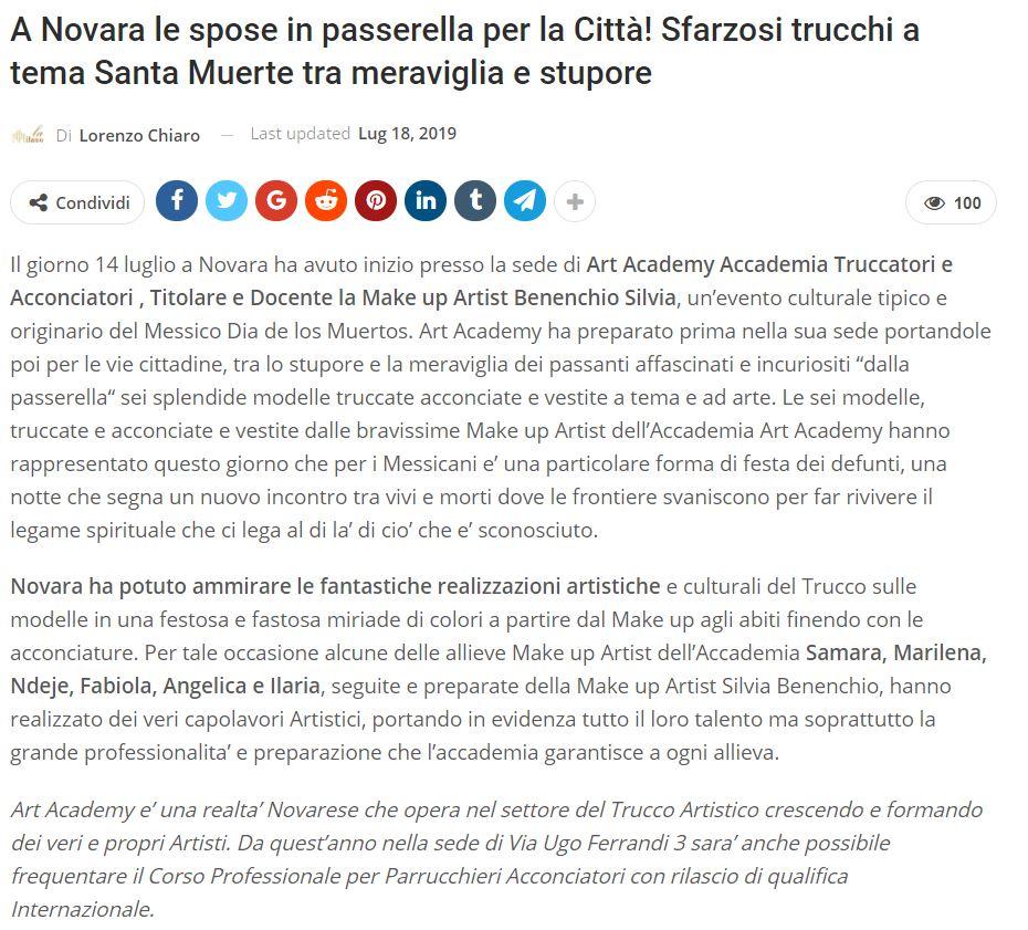 Santa Muerte Le spose in passerella Novara 2019